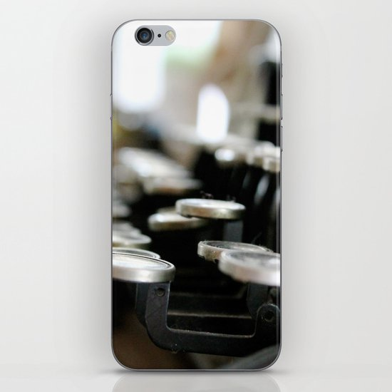 """writer's block"" iPhone & iPod Skin"