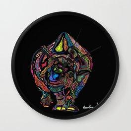 Mama Rhino Wall Clock
