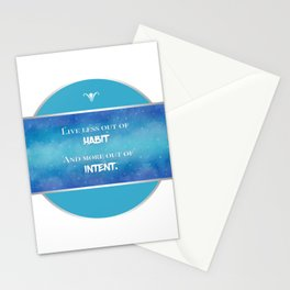 Live an Intentional Life Stationery Cards