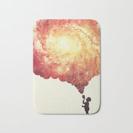 The universe in a soap-bubble! (Awesome Space / Nebula / Galaxy Negative Space Artwork) Bath Mat