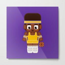 Basketball - Gold and Purple Metal Print
