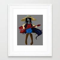 marceline Framed Art Prints featuring Marceline  by Fishiebug