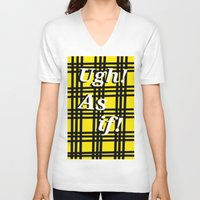 clueless V-neck T-shirts featuring Ugh! As if! by Emma Michels