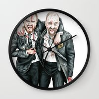 breaking bad Wall Clocks featuring Breaking Bad by 13 Styx