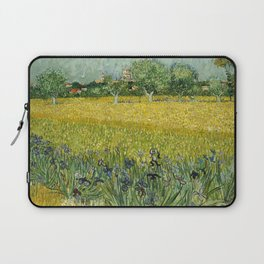 Field with Flowers near Arles by Vincent van Gogh Laptop Sleeve