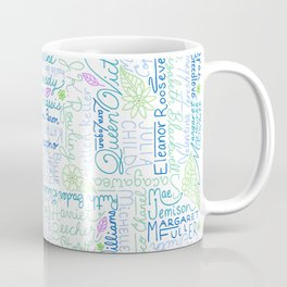 Strong Women Blue and Green Coffee Mug