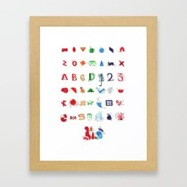 Geominals Framed Art Print