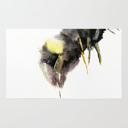 Bumblebee, bee art, bee design Rug