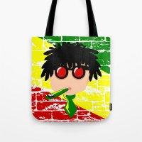 reggae Tote Bags featuring Reggae Kazoo by mailboxdisco
