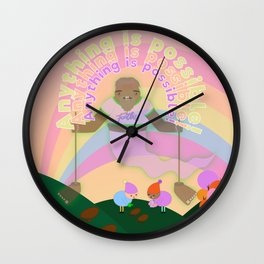 Anything is possible - Perhaps It's You Podcast Fan Art Wall Clock