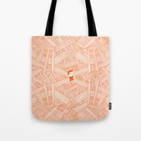 labyrinth Tote Bags featuring Labyrinth by Jarvis Glasses