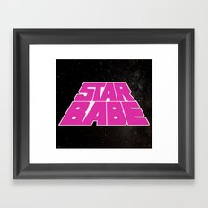 Star Babe Framed Art Print