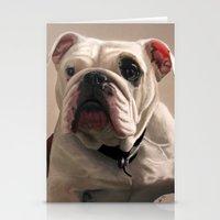 british Stationery Cards featuring British Bulldog by Mel Hampson