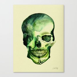 Painted Skull #1 Canvas Print