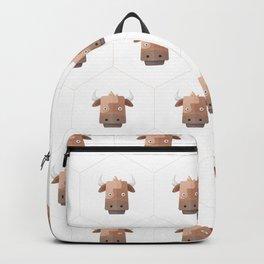 Hexagon's Cow design Backpack