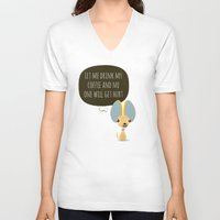 chihuahua V-neck T-shirts featuring Chihuahua by Fabio Rex