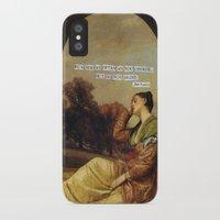 jane austen iPhone & iPod Cases featuring jane austen  by Emily P
