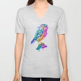 Colorful Owl Unisex V-Neck