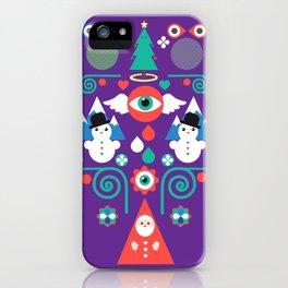 Christmas - purple pop iPhone Case