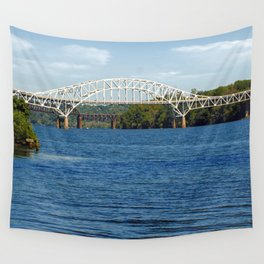 Thomas Hatem Memorial Bridge, Havre de Grace, Maryland, Susquehanna River  Wall Tapestry