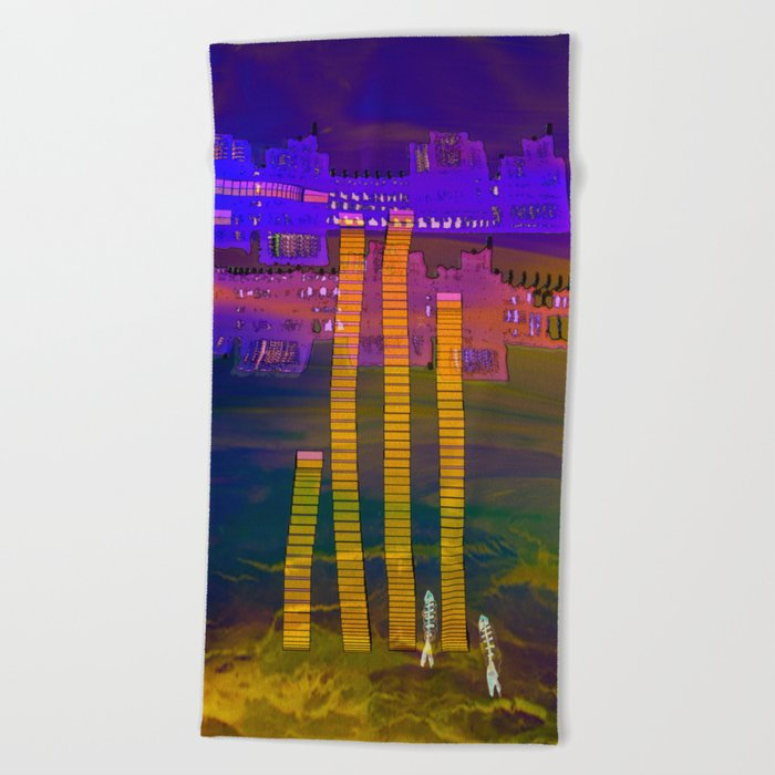 Atlante 20•5•16 / Stairs Between Phases Beach Towel