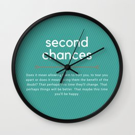 Second Chances Wall Clock