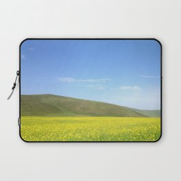 yellow flower field Laptop Sleeve