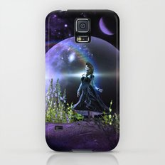 Dancing on a mountain with a universe as background Slim Case Galaxy S5