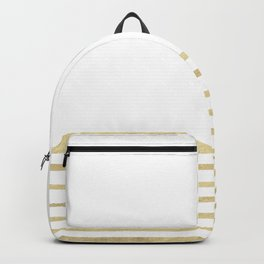 White and Gold Stripes Backpack
