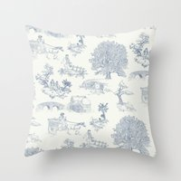 lotr Throw Pillows featuring Shire Toile by Jackie Sullivan