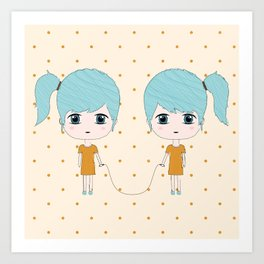 Gemini Girls Art Print