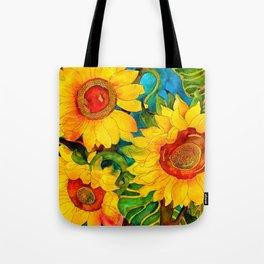 Golden Sunflowers Umhängetasche