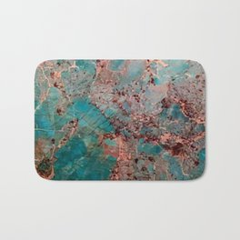 Marble Turquoise Blue Bath Mat