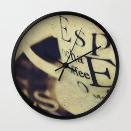 Espress-Yourself! Wall Clock