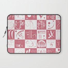Kandinsky - White and Rose Pattern - Abstract Art Laptop Sleeve