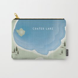 Crater Lake Oregon Travel Poster Carry-All Pouch