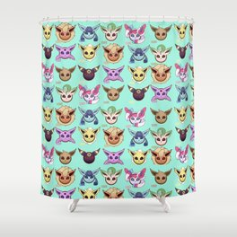 Eeveelutions Mint Shower Curtain