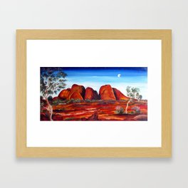 THE OLGAS-KATA TJUTA Framed Art Print