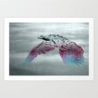 Flying Eagle, Evolving Energy Art Print