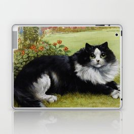 Black & White Kitty - Louis Wain Cats Laptop & iPad Skin