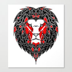 Black Lion Canvas Print