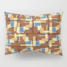 Blue Earth Patch Pattern Pillow Sham