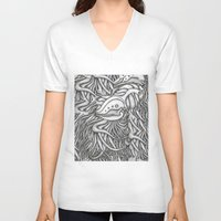 evolution V-neck T-shirts featuring Evolution  by OKAINA IMAGE