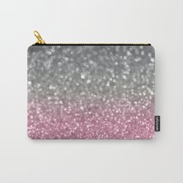 Gray and Light Pink Carry-All Pouch