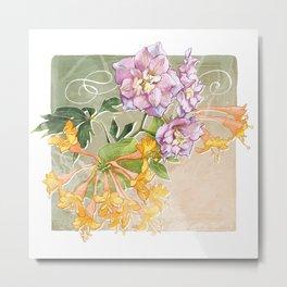 June Flowers Metal Print