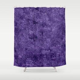 Gentian Violet Oil Painting Color Accent Shower Curtain