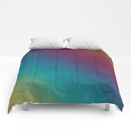 Bohek Bubbles on Rainbow of Color - Ombre multi Colored Spheres Comforters