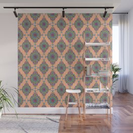 Vintage Moroccan Pattern in Peach Wall Mural