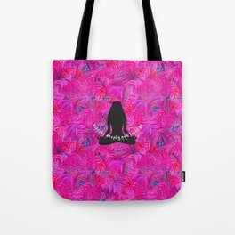 Yoga Lotus Pink Tropical Motivational Quote Tote Bag