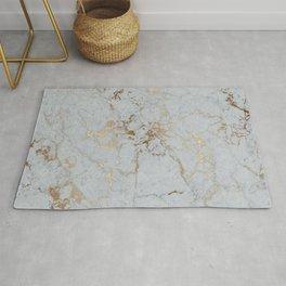 Stylish blush teal gold elegant abstract marble Rug
